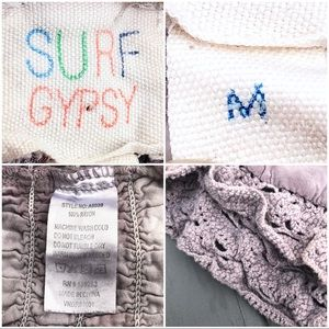 Surf Gypsy Shorts - Surf Gypsy tie-dyed crochet drawstring shorts M
